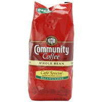 Community Coffee Whole Bean Coffee, Cafe Special Decaffeinated, 12-Ounce Bags (Pack of 3)