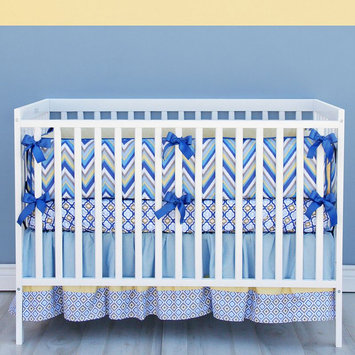Caden Lane Asher 3-pc. Crib Set (Blue)