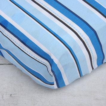 Caden Lane Pinstripe Crib Sheet (Blue)