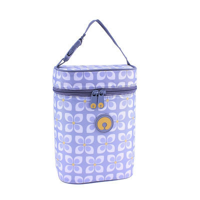 Global Design Concepts Boppy Pinwheel Insulated Double Wide Bottle Bag in Grey/Yellow