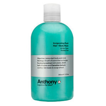 Anthony Logistics For Men Invigorating Rush Hair + Body Wash 12 oz