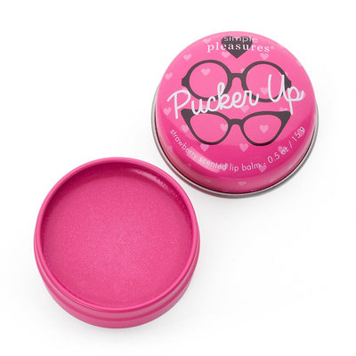 Simple Pleasures Pucker Up Lip Balm Tin (Pink)