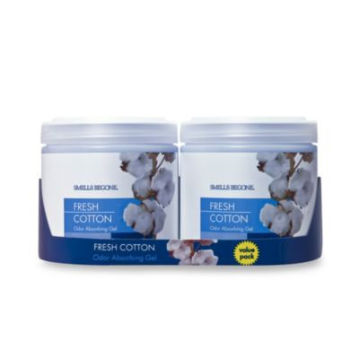 Smells BeGone Fresh Cotton 15 oz. Odor Absorbing Gel Jars (Set of 2)
