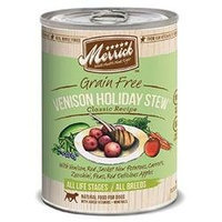 Super-dog Pet Food Company Merrick Venison Holiday Stew Canned Dog Food Case