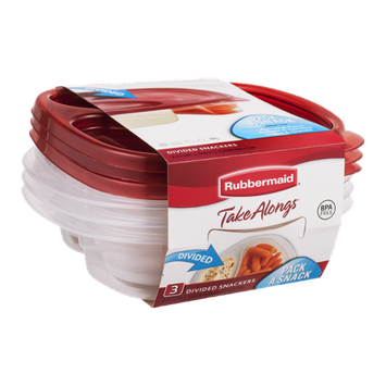 Rubbermaid Take Alongs Divided Snackers - 3 CT
