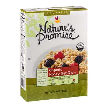 Nature's Promise Organic Honey Nut O's Cereal