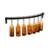 Elements Fading Amber Wine Bottle Candle Wall Sconce