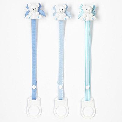 Baby Buddy 3-pk. Bear Pacifier Holder (Blue)