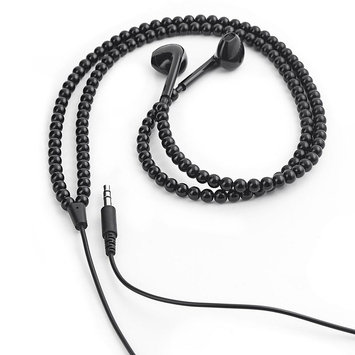 Kikkerland Simulated Pearl Earbud Headphones US89 (Black)
