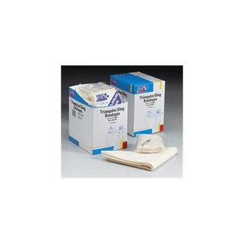 First Aid Only 36 x 36 x 51 Inch Triangular Sling / Bandage - with 2 Safety Pins - 20 Per Dispenser Box