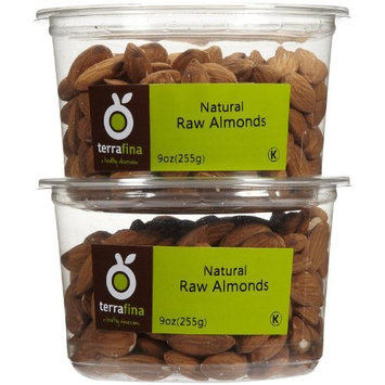 Terrafina Almonds-Raw, 9 oz, 2 pk