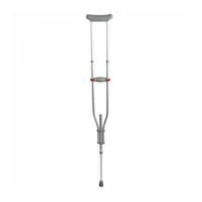 Medline Industries MDS80540 Quick-Fit Crut Chrome 4-Foot 7-6-Foot 7 Quick-Fit - Aluminum - Pair