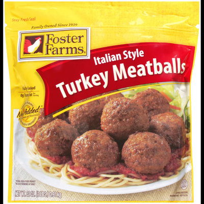 Foster Farms Italian Style Turkey Meatballs, 32 oz
