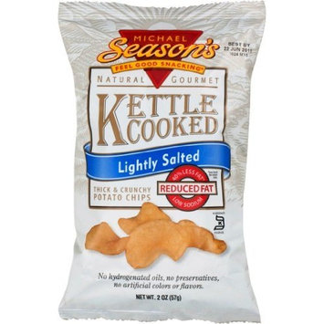 Michael Season's Kettle Cooked Lightly Salted Potato Chips, 2 Ounce Bags (Pack of 24)