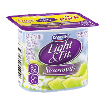 Dannon® Light & Fit® Seasonals Honeydew Non-Fat Yogurt