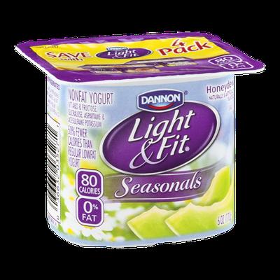 Dannon® Light & Fit® Seasonals Honeydew Non-Fat Yogurt