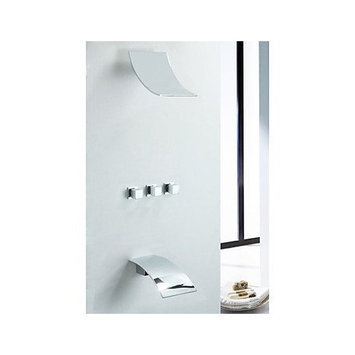 Arctic Contemporary Wall Mount Rain Shower Faucet (Chrome Finish)