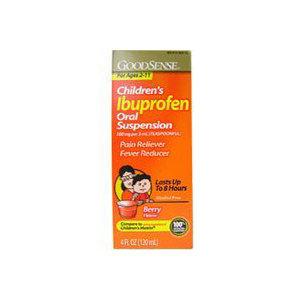 Ibuprofen Tablets Good Sense Children's Ibuprofen Oral Suspension, 100mg, Berry, 4 oz