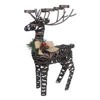 St. Nicholas Square® Large Reindeer Tealight Holder, Brown