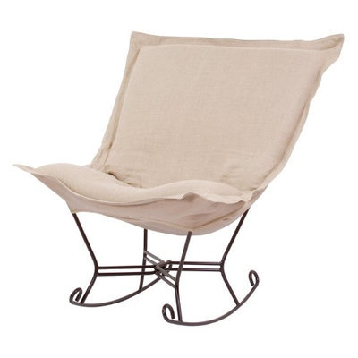 Howard Elliott Prairie Linen Natural Scroll Puff Rocker - 600-610