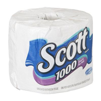 Scott 1000 Sheets Per Roll Unscented Bathroom Tissue