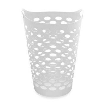 Starplast Tall Flex Laundry Basket in White
