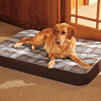 Doctors Foster & Smith Super Deluxe Orthopedic Pet Bed (Hickory Plaid)