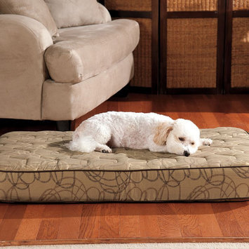 Doctors Foster & Smith Super Deluxe Orthopedic Pet Bed (Beige/Khaki)
