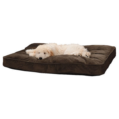 Doctors Foster & Smith Simply Suede Rectangular Pet Bed (Brown)