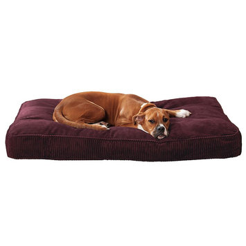 Doctors Foster & Smith Simply Suede Rectangular Pet Bed (Red)