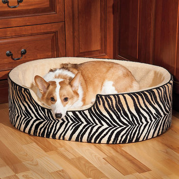 Doctors Foster & Smith Double Support Slumber Animal Pet Bed (Black)