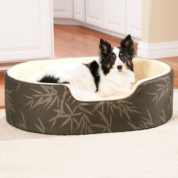 Doctors Foster & Smith Double Support Slumber Print Pet Bed (Brown)