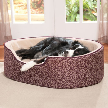 Doctors Foster & Smith Double Support Slumber Print Pet Bed (Red)
