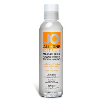 System JO All in One Sensual Massage Glide, Citrus, 4-Ounce Bottle