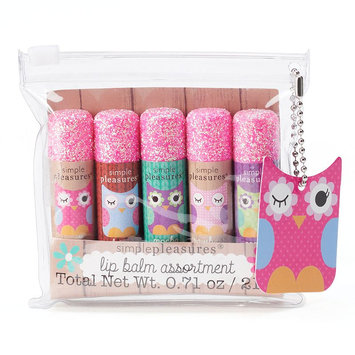 Simple Pleasures 5-pc. Owl Lip Balm Gift Set (Pink)