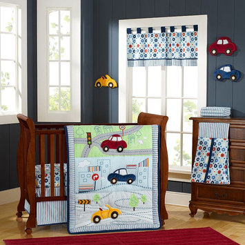 Laugh, Giggle & Smile My Little Town Crib Bedding Collection