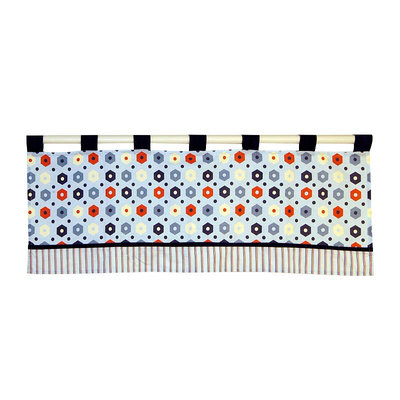 Laugh, Giggle & Smile My Little Town Window Valance (Blue/Red)