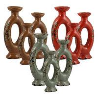 Kohls 9-piece Oval Candle Holder Set (Natural)
