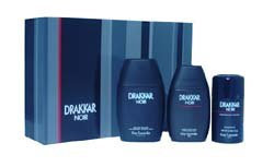 Drakkar Noir By Guy Laroche For Men. Set-edt Spray 3.4 Ounces & Aftershave Balm 3.4 Ounces & Deodorant Stick 2.5 Ounces