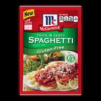 McCormick® Gluten-Free Thick & Zesty Spaghetti Sauce Mix