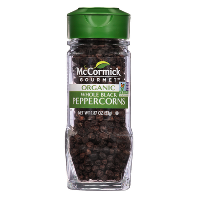 McCormick Gourmet™ Organic Black Peppercorns, Whole