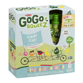 GoGo squeeZ Applesauce on the Go Gimme Five! Puches - 4 CT