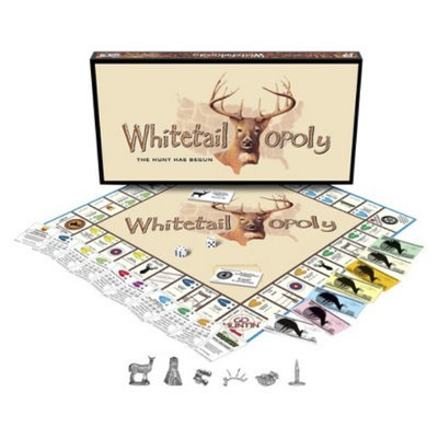 Late for the Sky Productions Late for the Sky WHITE TAIL-OPOLY Board Game