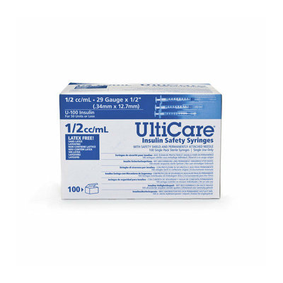 Medline UltiCare Insulin Safety Syringes (Set of 5)