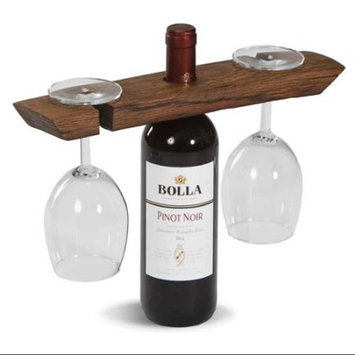 Reclaimed Wine Barrel Glass Caddy by Picnic Plus