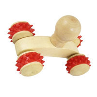 Body Red Rubber Coated Wheel Car Style Massage Roller