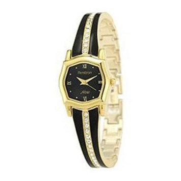 Armitron Ladies' Quartz Black Enamel Bangle Watch