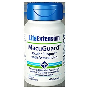 Life Extension Super Zeaxanthin with Lutein and Meso Zeaxanthin Plus Astaxanthin and C3g, 60 Softgel,