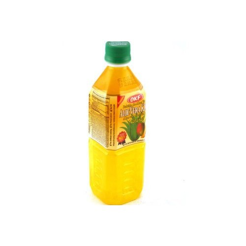 OKF Aloe Vera King Juice Mango, 16.9-Ounce (Pack of 20)