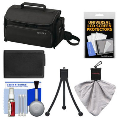 Sony LCS-U20 Medium Carrying Case (Black) with Battery + Accessory Kit for Alpha NEX-C3, NEX-F3, NEX-5N & NEX-7 Digital Cameras
